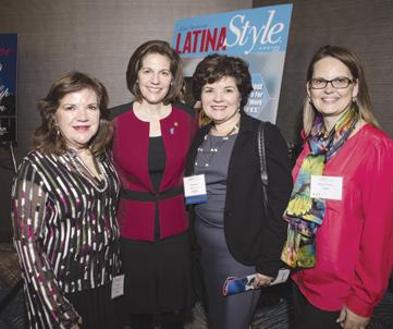 (L-R) Regina Manduley, Senator Catherine Cortez Masto, Rosie Kitson (AT&T) and Dawn Cordero (AT&T).