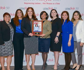 PepsiCo team: (L-R) Marcela Ventura Diaz, Aminita Price, Merary Simeon, Amber Benton, Veronica Riojas, Marissa Solis, and Daniella Montero.