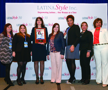 New York Life team: (L-R) Laura Languidey, Annia Zavala, Mayra Diaz, Liliana Canedo, Monique Murphy, Asela Rebecca Mejia, Carmen Medina.